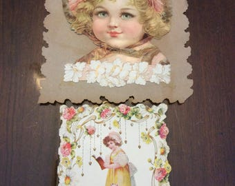 2 1910s cards, valentines