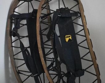Vintage Bear Paw Snow Shoes