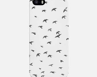 Swallows iPhone Case, Minimalist Phone Case, iPhone 6 Case, iPhone 6 Plus Case Birds, iPhone 7 Case, iPhone 7 Plus Case, iPhone 5s Case