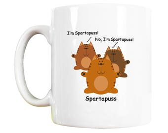 Spartapuss Cat Mug, Cat Lover Gift, Cat Mugs, Cat lovers Gift, Cat Lover Gifts, Cat Lovers Gifts, Cat Mug, Cat Gift, Cat Gift for