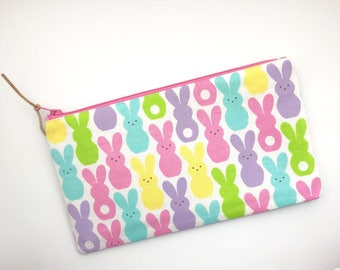 Bunnies Pencil Case Easter Gift Ideas Zipper Pouch Gift For Her Bunny Print School Supplies Make Up Bag Gift Under 15  Easter Gift For Kids