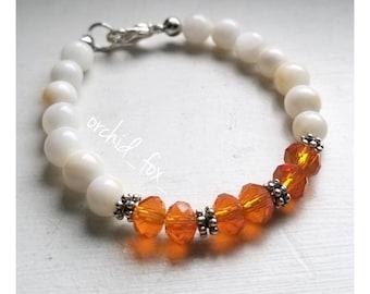 Children's boho beaded bracelet