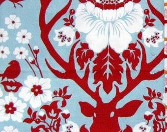 Fat Quarter Joel Dewberry Deer Valley, Antler Damask in Persimmon, OOP VHTF Free Spirit Fabric FQ