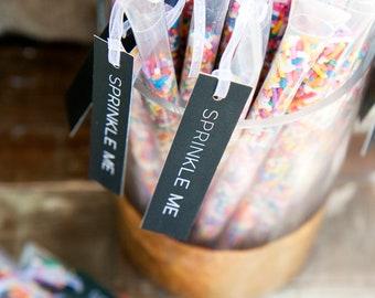 Rainbow Wedding Send off, Sprinkle Stick Toss Wands - Confetti, Rice, Alternative - 25 individual tubes