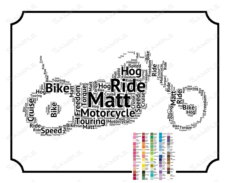 Personalized motorcyle gift biker gift word artk motorcycle zoom negle Gallery