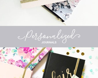 Journal Notebook Personalized Journal Gold Office Gifts Personalized Journal Gifts for Co Workers Personalized Gifts for Women (EB3191SCP)