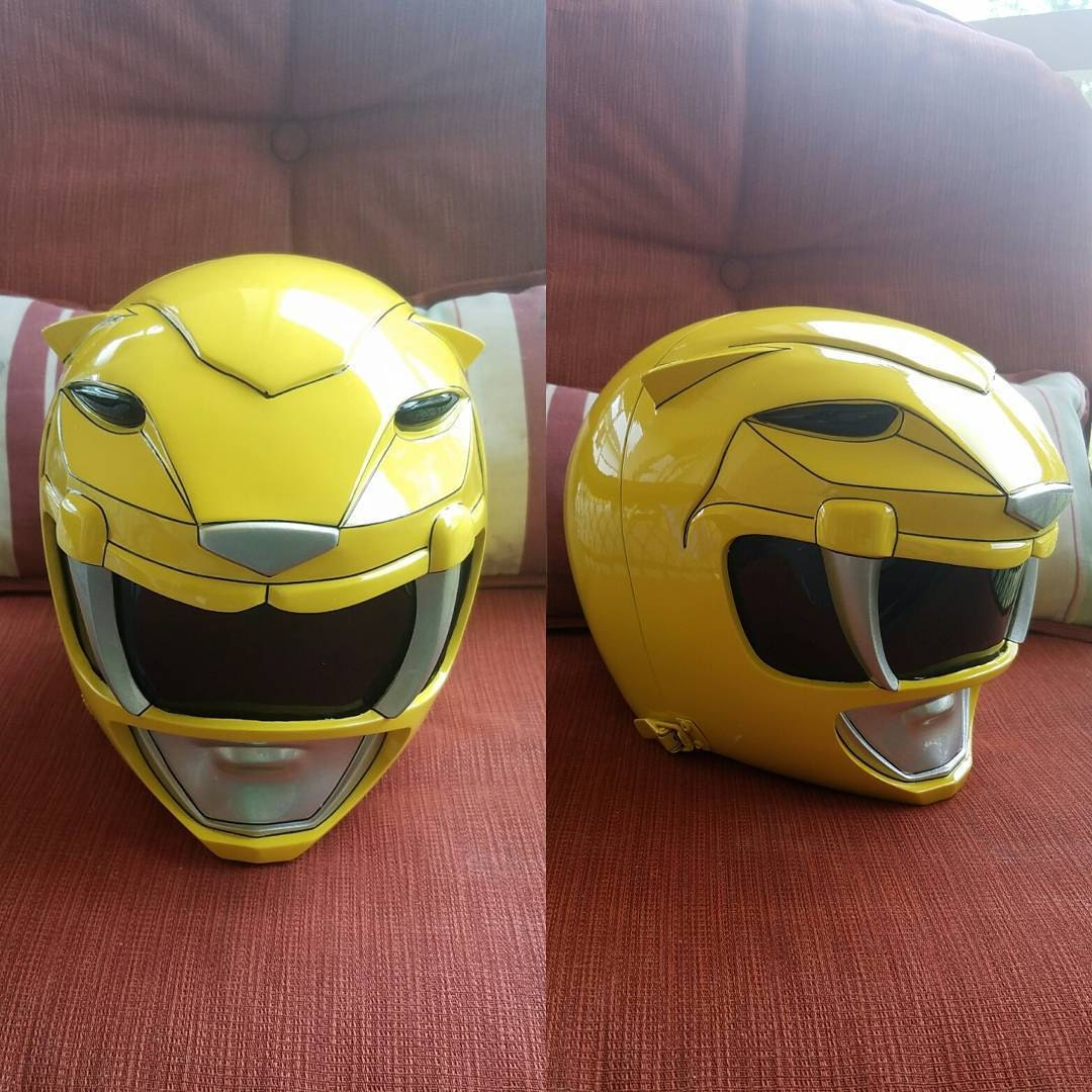 Mighty Morphin Yellow Power Ranger finished and helmet made