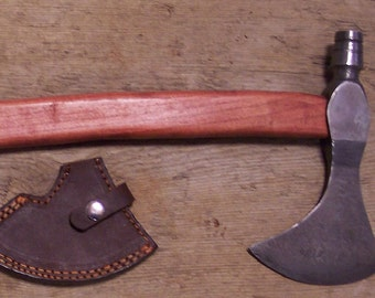 Damascus steel light bearded axe
