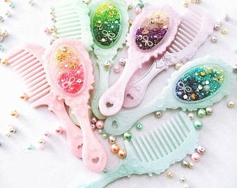 Comb Mirror Silicon Resin Mold - Comb mold - Resin Mold - Handheld mirror mold - Mirror DIY Silicon Mold n Mold