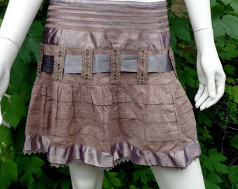 Vintage skirt /Brown  skirt /cotton  skirt-short skirt /a cotton  skirt /skirt /boho skirt /hippie skirt/ beach party