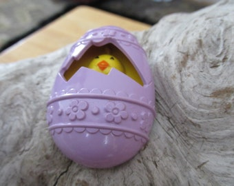Vintage Avon Easter Egg Chick Pin Brooch with Cologne