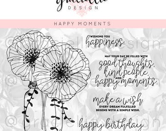 Happy Moments Digital Stamp Set