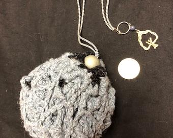 Collapsible Crochet Market Bag (gray)