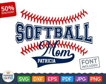 Softball Mom Svg SOFTBALL Svg Baseball Stitches, Tshirt file, Sport mommy Clip art, Cheerleader Mother Svg cut files for Cricut, Silhouette