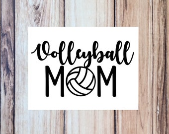 Volleyball Mom Vinyl Decal, Cup decal, Tumbler, Water Bottle, Car Decal, 35 colors to choose from