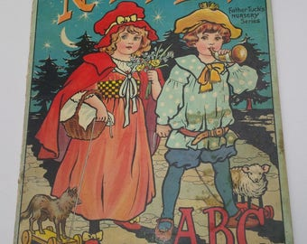 Nursery Land ABC - Raphael Tuck & Sons LTD 1917 ca. - Rare antique children's ABC book