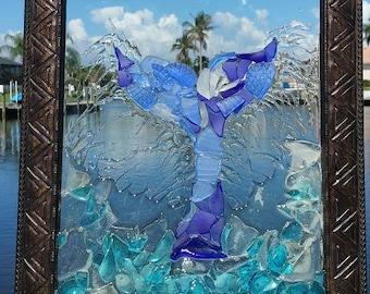 Sea Glass Whale Tail
