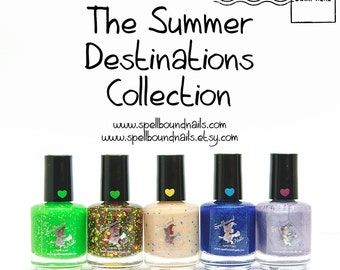 FULL SIZE Summer Destinations Collection - Custom summer scented nail polish Hawaii Jamaica Bermuda Fiji Capri