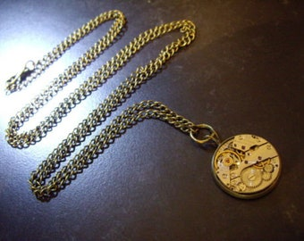 Watch Movement Steampunk Necklace