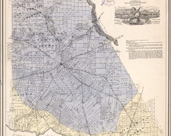 Poster, Many Sizes Available; Map Of Brown Co., State Of Texas 1876