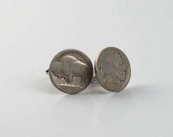 1928 Buffalo Indian Head Nickel Coin Cufflink