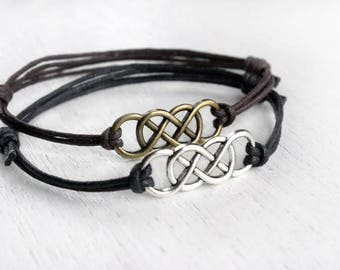 Double Infinity Bracelet, (many colors to choose)