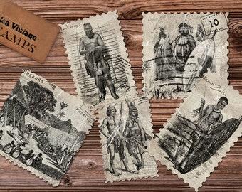 African Vintage Stamps