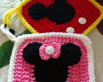 Set de manopla de Minnie y Mickey