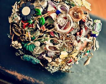 CUSTOM Vintage MOMENTO Memory Accented Wedding Brooch Bouquet - to fit your style, budget & colors - plus lifetime guarantee