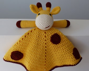 CUSTOM MADE--Gregory the Giraffe Amigurumi Security Blanket