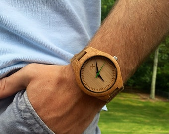 FREE Engraving, Wood Watch, Wooden Watch, Engraved Wooden Watch, Wooden Watch for Men, Mens Watch, Groomsmen Gift, Gift for Him, Wrist Watch