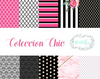 Digital Paper Collection Chic
