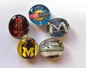 Ann Arbor Vintage Places Magnets