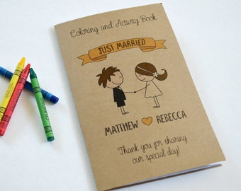 Wedding activity book for Kids / wedding coloring book /