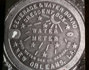 New Orleans Water Meter Painting by French Quarter Artist Ginger
