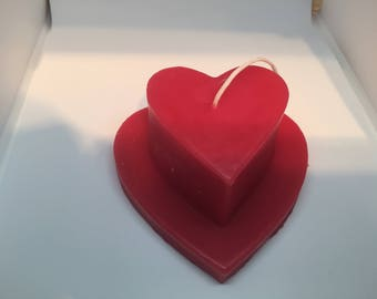Heart Candle lovely Valentines Present