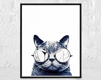 Cat Print, Cat Picture, Cat Animal Print, Cat Wall Art, Farmhouse Digital