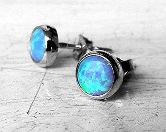 Opal ohrringe weissgold