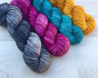 Your Slip Is Showing. Shawl Kit. Hand Dyed Yarn. Merino. Sock Weight. Gigi Bonin