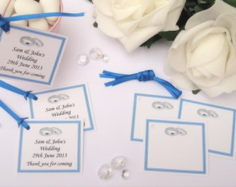 Personalised Wedding Gift Tags - Royal Blue - Pack of 10 tags