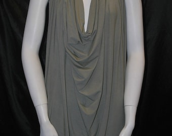 Italian Bamboo 4 Ways Spandex Knit Jersey Fabric Ecofriendly Dusty Green