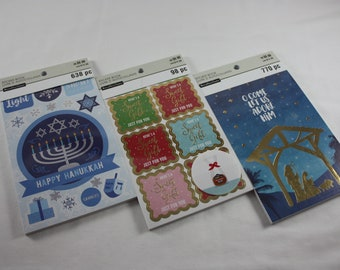 Recollections Sticker Books Hanukkah Sweet Gift For You Religious Christmas Stickers Holiday Sticker Books Dreidel Baked With Love Nativity