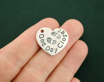 4 Military Charms Antique Silver Tone One Day Closer - SC7214