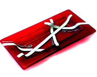 Red Ribbons Cookie Plate 7007