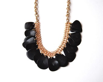 Back to Black statement necklace by Very Valero