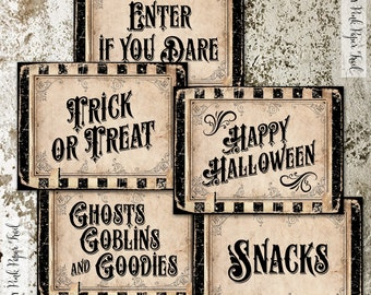 Halloween Party Signs, Party Posters, Party Decor, 8x10 inches, Instant Download, Print Your Own