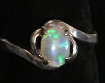 925 silver opal ring size 6