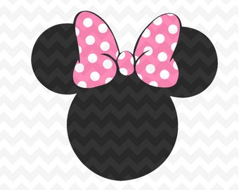 Minnie Mouse SVG, LAYERED Minnie mouse instant Download Minnie Mouse Head Vector Minnie Mouse Cut File, Minnie Mouse for Silhouette and  Cri