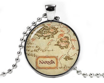 Narnia Map Pendant Necklace Narnia Jewelry Narnia Necklace Book Lovers