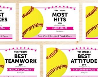 softball award etsy